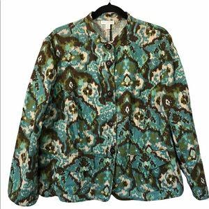 NWOT Charter Club 100% Linen Abstract Print Blazer Jacket, 2X